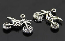 10pc Tibetan Silver motorcycle Beads Charm Pendant accessories wholesale PL496