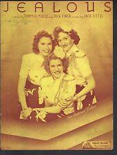 Jealous  - Andrews Sisters Sheet Music
