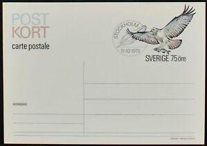 Sweden 1975 Post Kort, Bird Of Prey, Stationery Card #C52681