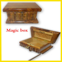 puzzle secret box jewelry trinket wood handmade stash gift carved hidden magic