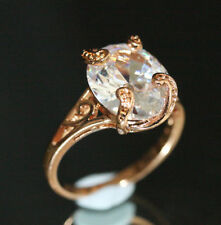 Lab-Created Excellent Cut Oval Fine Diamond Rings