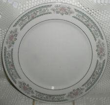 Lynns Fine China Grace Dinner Plate Grey Gray Pink Flower Silver Trim