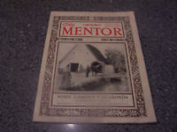 "August 1922 The Mentor ""Some Famous Vagabonds"" MAGAZINE"