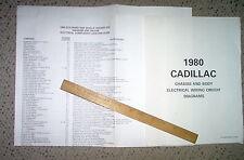 1980 Cadillac Eldorado Body Wiring Diagrams Factory OEM GM