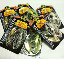Terminator Spinnerbait Fishing Lures 3/8oz Nib-Lot Of 6