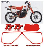 Yamaha TT 600 crystal - adesivi/adhesives/stickers/decal