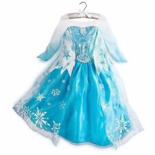 Disney Store girl's size 5/6 Elsa Dress/Costume Frozen /Sold Out/ Halloween NWT