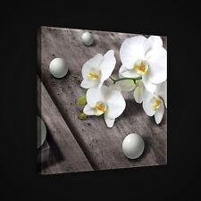 CANVAS Wandbild Leinwandbild Bild ORCHIDEE BLUMEN KUGELN KUNST HOLZ  3FX2407O5
