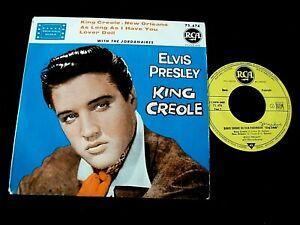 EP ELVIS PRESLEY KING CREOLE N°1 POCHETTE GLACEE 75.474 ORIGINAL FRANCE 1960