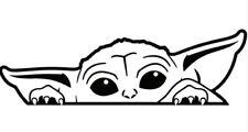 Baby Yoda Cute Peeking decal,sticker ,car,laptop,window,drift,jdm,vag,astra