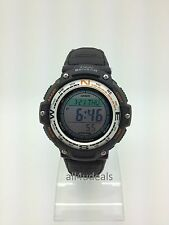 Mens Casio SGW100B-3V Green Canvas Compass Thermometer Digital Sport Alarm Watch