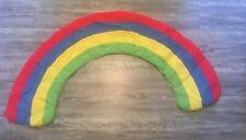Rainbow Fabric Padded Wall Hanging Nursery Child's Room Vintage 90's