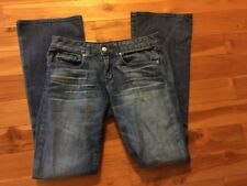 GAP 1969 Womens Jeans Size 26 / 2 a Curvy Fit Flare Med Wash Distressed
