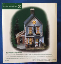 Department 56 P.L. Wheeler's Bicycle Shop, Retired New England Village.