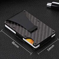 RFID Blocking Metal Credit Card Holder Secure Wallet Money Clip Slim Pocket Mens