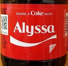 Summer 2018 Share A Coke With Alyssa 20 oz Coca Cola Collectible Bottle