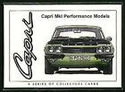 FORD CAPRI MK1 (1969-74) - Collectors Card Set - 3000E GT GXL Perana RS3100 V8