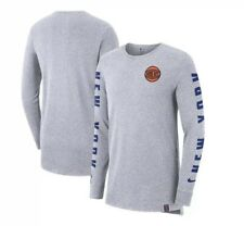 Nike New York Knicks Men's Gray City Edition Elevated Marled Long Sleeve Large