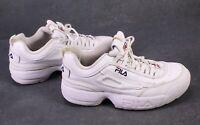 SB301 FILA Disruptor Low Damen Platform Sneaker Sportschuhe Gr. 39 Leder weiß