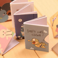 2Pc Mini Cute Cartoon Notebook Handy Pocket Notepad Paper Journal Diary Portable