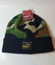Puma Headwear Camouflage Youth Knit Winter Beanie Hat with Free Sticker