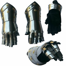 Medieval Steel Gothic Gauntlet Gloves New Antique Armour Functional Gauntlets