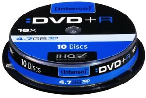 Intenso DVD +R 10 Disc Spindle 4.7GB
