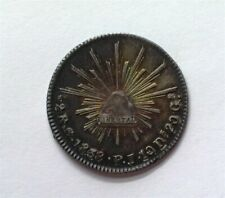 MEXICO 1838-GOJP SILVER 2 REALES CHOICE UNCIRCULATED+ NICE COLOR