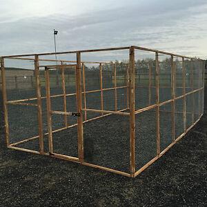 17 x Aviary Panel 6 x 3 + 1 x Door Outdoor Run 19G Chicken Rabbits Puppy Bird