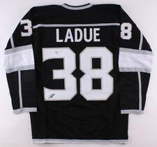 Paul LaDue Signed Kings Black Jersey (Beckett) Los Angeles Rookie Defenseman