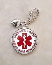 925 Sterling Silver Charm Medical Alert Spinal Cord Stimulator
