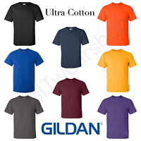 NEW Gildan Men's Ultra Cotton Plain Crew Neck Short Sleeves T-Shirt 2000
