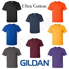 NEW Gildan Men's Ultra Cotton Plain Crew Neck Short Sleeves T-Shirt 2000