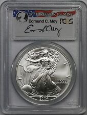 2004 American Silver Eagle $1 MS 69 PCGS Edmund C. Moy Signature