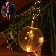 Harley Quinn 3D Crystal Ball LED Night Light Key Ring Chain Creative Gifts RGB