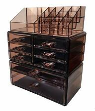 Sodynee Acrylic Makeup Cosmetic Organizer Storage Drawers Display Boxes Case 15A