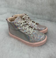 Girls Clarks Bootie City Oasis Hightop Pink Size 9G