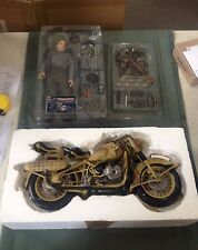 "Dragon Cyber-Hobby 1/6 Scale 12"" WWII German Anton Gause with Motorcycle 70115"