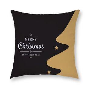 Christmas Cushion Cover Pillow Golden Case Xmas Throw Waist Home Sofa Decor