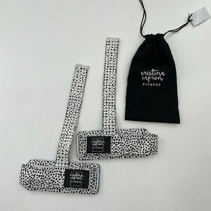 Cristina Capron Fitness Speckled Black/White Lifting Straps