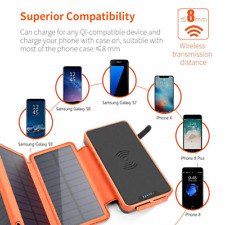 XIYIHOO Solar Charger Power Bank 20000mAh, Portable Charger 5W Wireless Charger