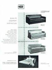 PUBLICITE ADVERTISING 126  1962  les  canapés-lit   Erton fauteuils