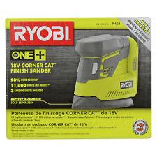 New Ryobi P401 18V One+ Lithium Ion Corner Cat Finish Sander uses P102 P104 P107