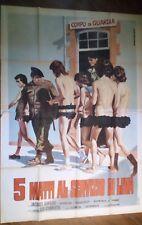FILM-5 MATTI AL SERVIZIO DI LEVA,ANNO 1971-MANIFESTO ORIGINALE(200 X 140)N.214