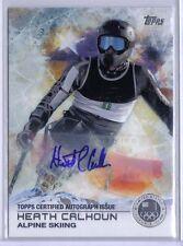 Heath Calhoun 2014 Topps Winter Olympics Silver Autograph Auto Alpine Skiing /30