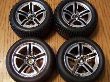 Traxxas Nitro Rustler Front & Rear Alias Tires 2.8 12mm Wheels /3.3 Jato / Sport
