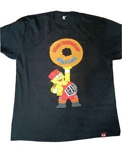 ICW, insane championship wrestling, Grado Simpsons t shirt RARE XL