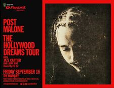 "POST MALONE/JAZZ CARTIER ""THE HOLLYWOOD DREAMS TOUR"" 2016 PHOENIX CONCERT POSTER"