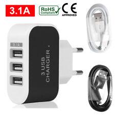 USB Mehrfachstecker 3 fach Mehrfach Anschluss Ladegerät 3.1 A Schnell Ladegerät