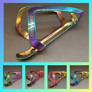 🔥GUB Alloy Titanium Chrome Finish MTB/Road Bicycle Water Bottle Cage Oil Slick